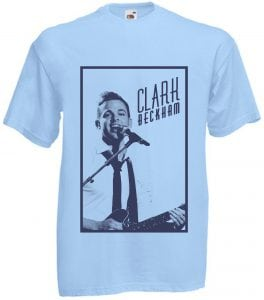 Clark Beckham Blue tee